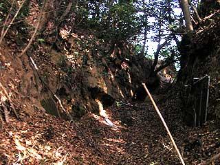 10年前の粟生城「やぐら」跡